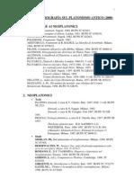 BIBLIOGRAFÍA PLATONISMO ANTICO (MMARÍN)