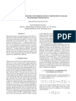 2005 ICIP - A Fast Algorithm for the Conversion of DCT Coefficients to H.264 Transform Coefficients