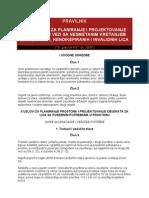 Pravilnik o Uslovima Za Planiranje i Projektovanje