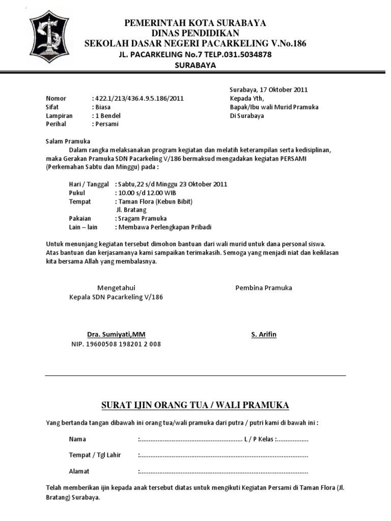 Contoh Surat Undangan Persami Pramuka Doc | Contoh Semua ...