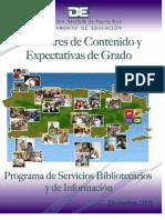 Estándares y Expectativas Biblioteca Diciembre 2008