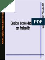 EJERCICIOS TECNICO-TACTICOS CON FINALIZACIÓN