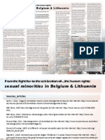 Sexual Minorities in Belgium & Lithuania (by Noreikaite Elinga)