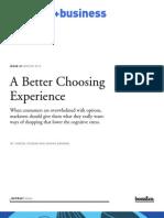 A Better Choosing Experience - Booz - July 11