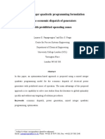 A Mixed Integer Quadratic Programming Formulation for the Economic Dispatch of Generators With Prohibited Operating Zones