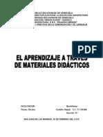 El Aprendizaje a Traves de Materiales Didacticos (Monografia)