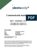 Communicatie Handboek Druk 3 9789001782689 Deel1 H1 H5