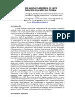 QUALIDADE HIGIÊNICO-SANITÁRIA DO LEITE COMERCIALIZADO NO AGROPOLO POMBAL