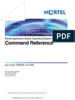 Nortel Application Switch Operating System 23.1 Command Reference
