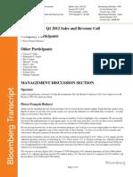 Q1 Earnings Transcript (310312)