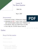 Lesson33 - Wave Equation slides