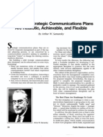Samansky, Successful Strategic Communication Plans