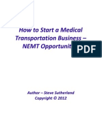 How to Start a Medical Transportation Business