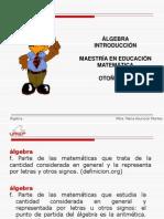 Algebra Definicion