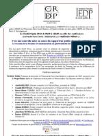 Conférence débat du 28 juin 2012  Vers une nouvelle mise en cause du rapporteur public devant la CEDH