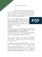 Guideline for the Economist Blog