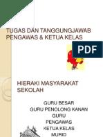 Tugas Dan Tanggungjawab Pengawas & Ketua Kelas
