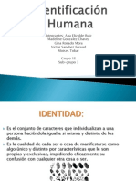Identificaciòn humana