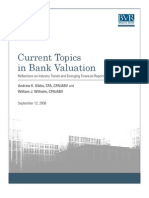 Current Topics in Bank Valuation