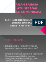 Peranan Bahasa Melayu Sebagai Bahasa Komunikasi