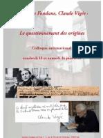 Benjamin Fondane et Claude Vigée - Le questionnement des origines