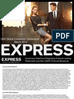 Express_Presentation UBS Conference