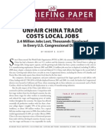 Unfair China Trade Costs Local Jobs