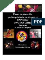 Curso de atención prehospitalaria en desastres