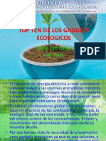 Top Ten de Los Gadgets Ecologicos