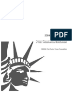 2009 Annual Report - Taxpayer Financed Crisis Pregnancy Centers in Texas