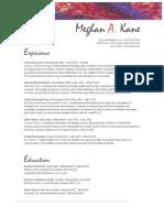 MKane Resume