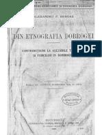 Alexandru P. Arbore - Din Etnografia Dobrogei