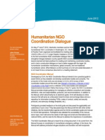 Humanitarian NGO Coordination Dialogue Mtg Note