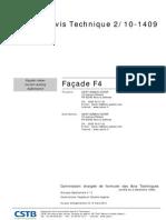 2_10-1409 AVIS TECHNIQUE Faáade F4 2