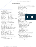 Formula Sheet 0