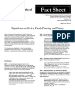 Republicans on Choice, Family Planning, and Privacy