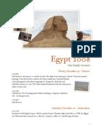 Egypt Travelogue