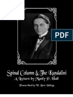 Manly P. Hall - Spinal Column & The Kundalini