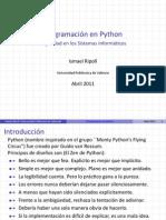 Programación en Python Seguridad en los Sistemas Informaticos