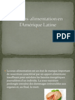 La sous-nutrition en l'Amérique Latine Colombie