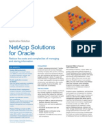 NetApp Solutions for Oracle Solution Brief (MAY12)