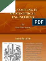 Soil Sampling in Geotechnical Engineering