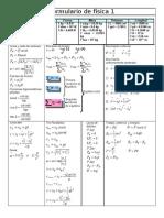 Formulario de física 1