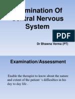 Examination Of Central Nervous System