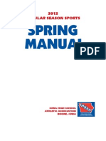 2012 Spring Manual IHSAA