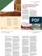 LA ¿RECONSTRUCCIÓN? DEL BALNEARIO DE TINGO