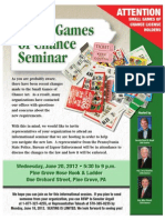 Small Games Flyer