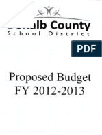 Proposed Budget (2012 2013)