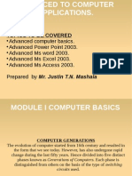 Advanced Computer Application