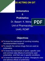 Antiemetics and Prokinetics